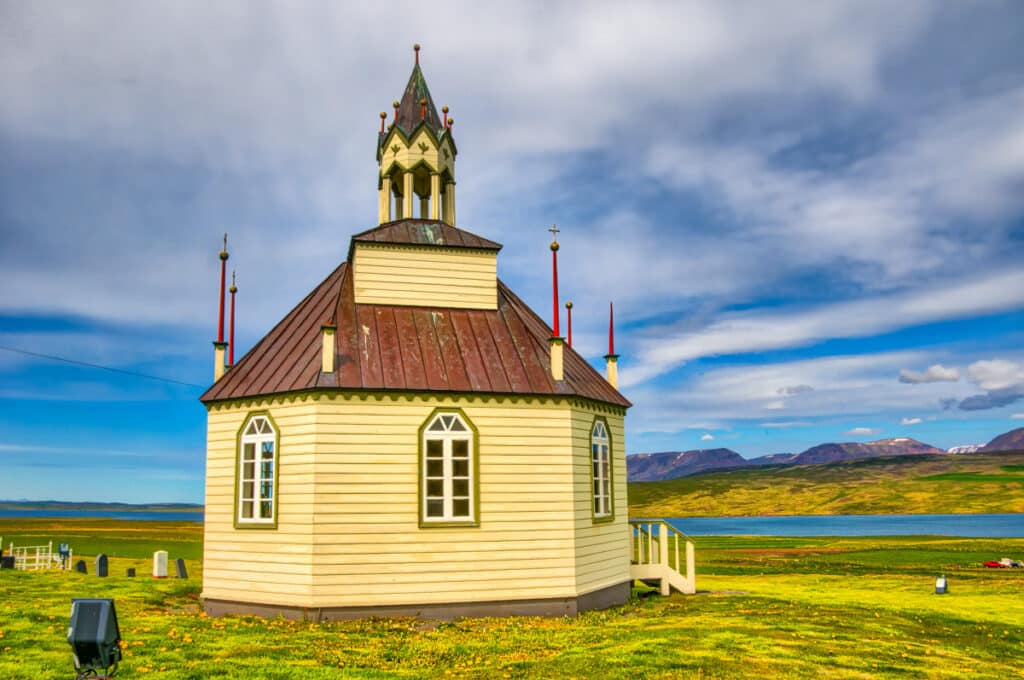 The church is octagonal. Iceland seems to treasure creativity and individualism.