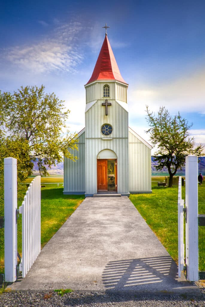 This is the church at the Glaumbær folk museum in northern Iceland.