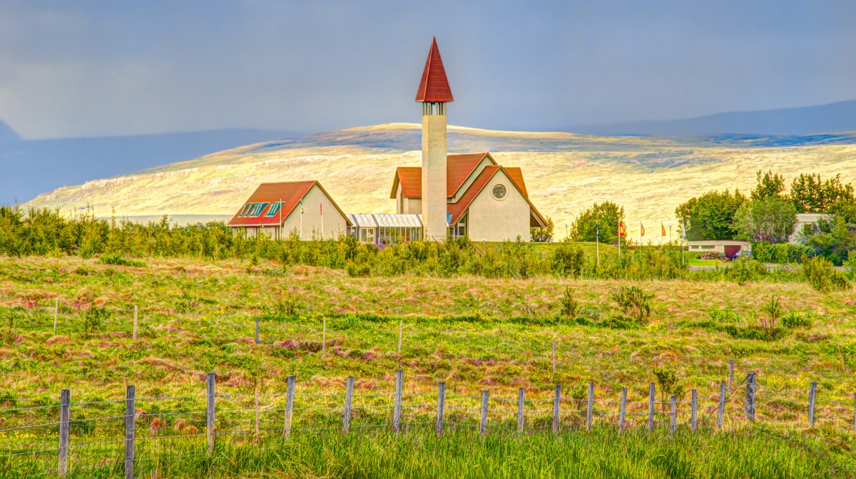 One of the Churches of Iceland is Reykholt. Reykholt is a small town, library, and school in southwestern Iceland. Icelanders know it as the home of the poet Snorri Sturluson. Visitors know it as the town with the beautiful tower.