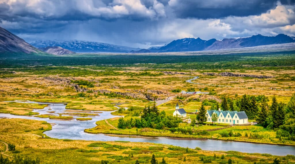 There has been a church on or near the current church complex since Christianity was adopted. Even before that, Þingvallavatn (Lake Thingvellir) was a very important site to Icelanders. It is where the national parliament (Althingi) was instituted in 930 AD.