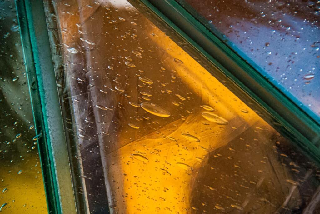 Glass detail at 30 Rockefeller Center in New York City.
