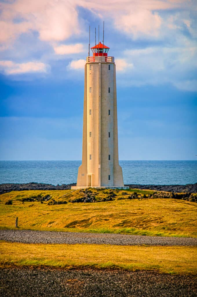 Lighthouse at Malarrif on the Snæfellsnes peninsula in western Iceland.